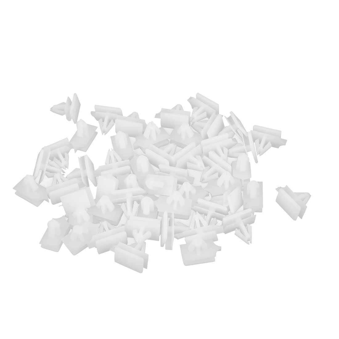 50 Pcs White Plastic Rivets Fastener Retainer 11 x 7mm Fit Hole for Car Fender