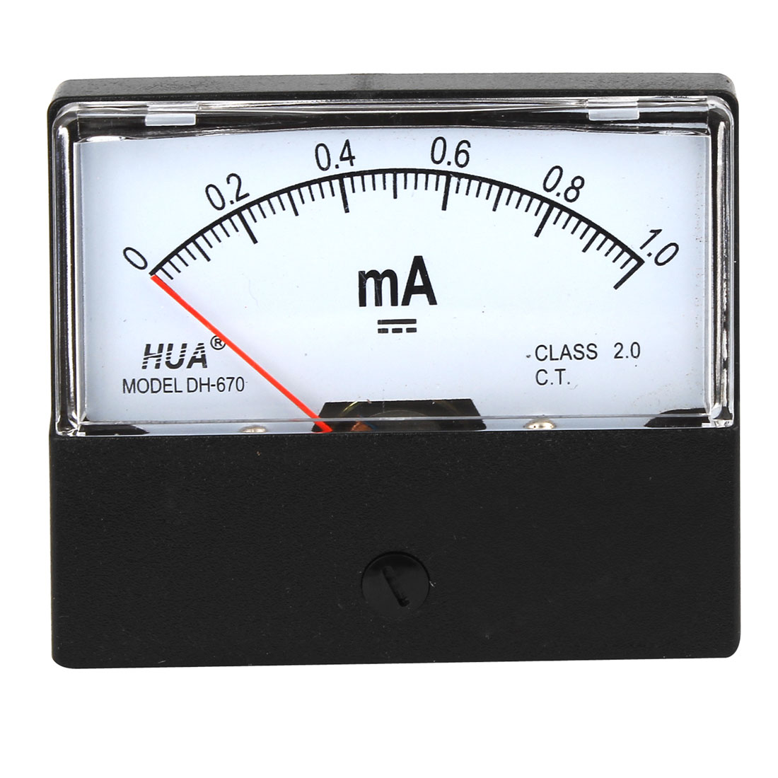 DC 0-1mA Range Class 2.0 Current Panel Analog Ammeter Measuring Tool