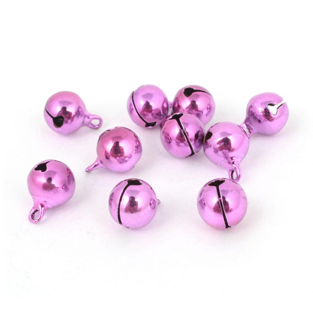 10 Pcs Pink Christmas Tree Decoration 10mm Metal Ring Bells