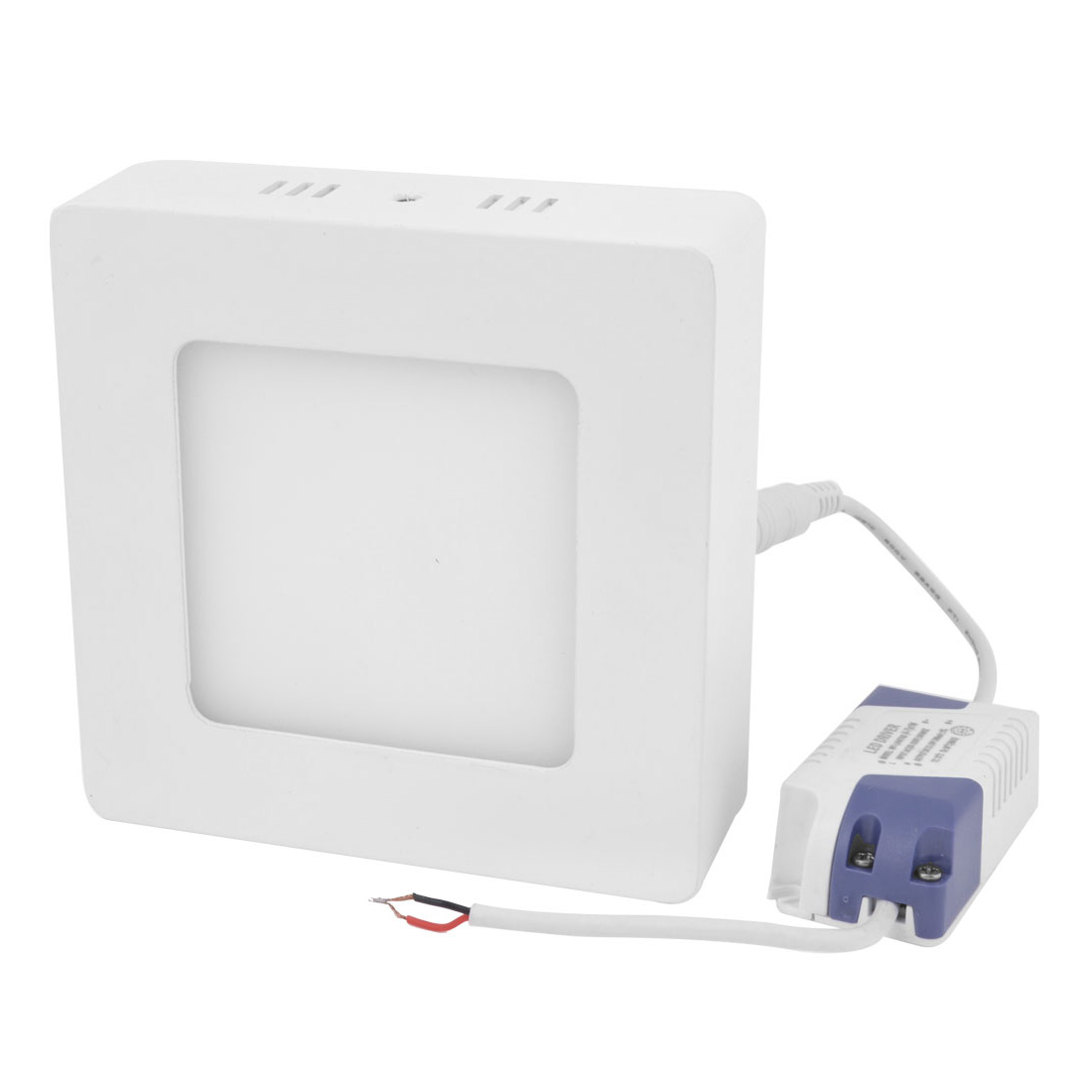 AC 85-265V 6W Warm White Square Ceiling 60 LED Surface Panel Lamp Downlight