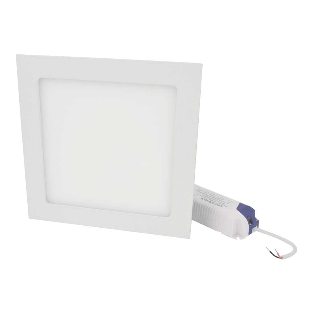 AC 85-265V 15W Warm White Recessed Square Ceiling 75 LED Panel Light Downlight