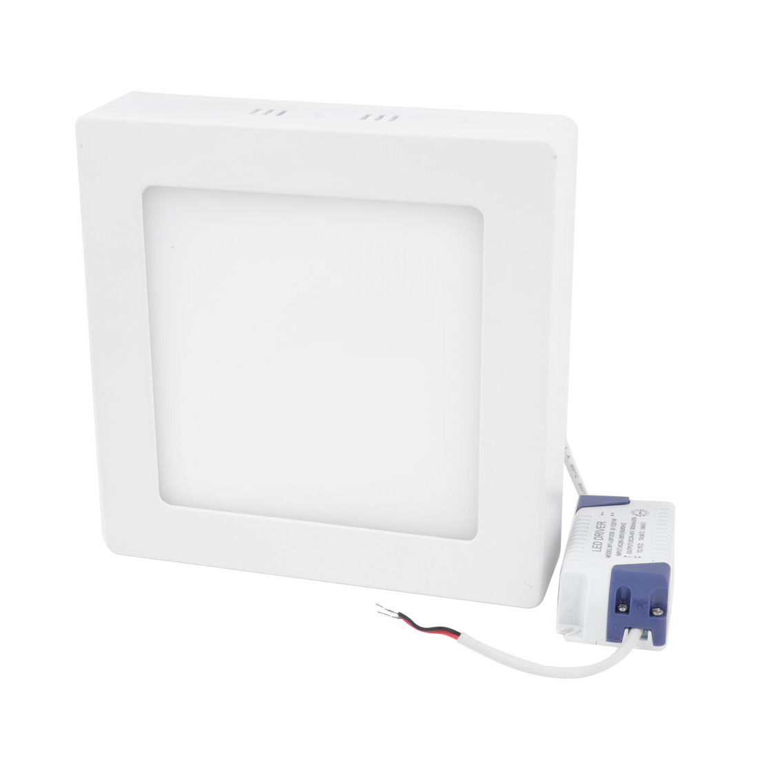 AC 85-265V 12W Pure White Square Ceiling 60 LED Surface Panel Light Downlight