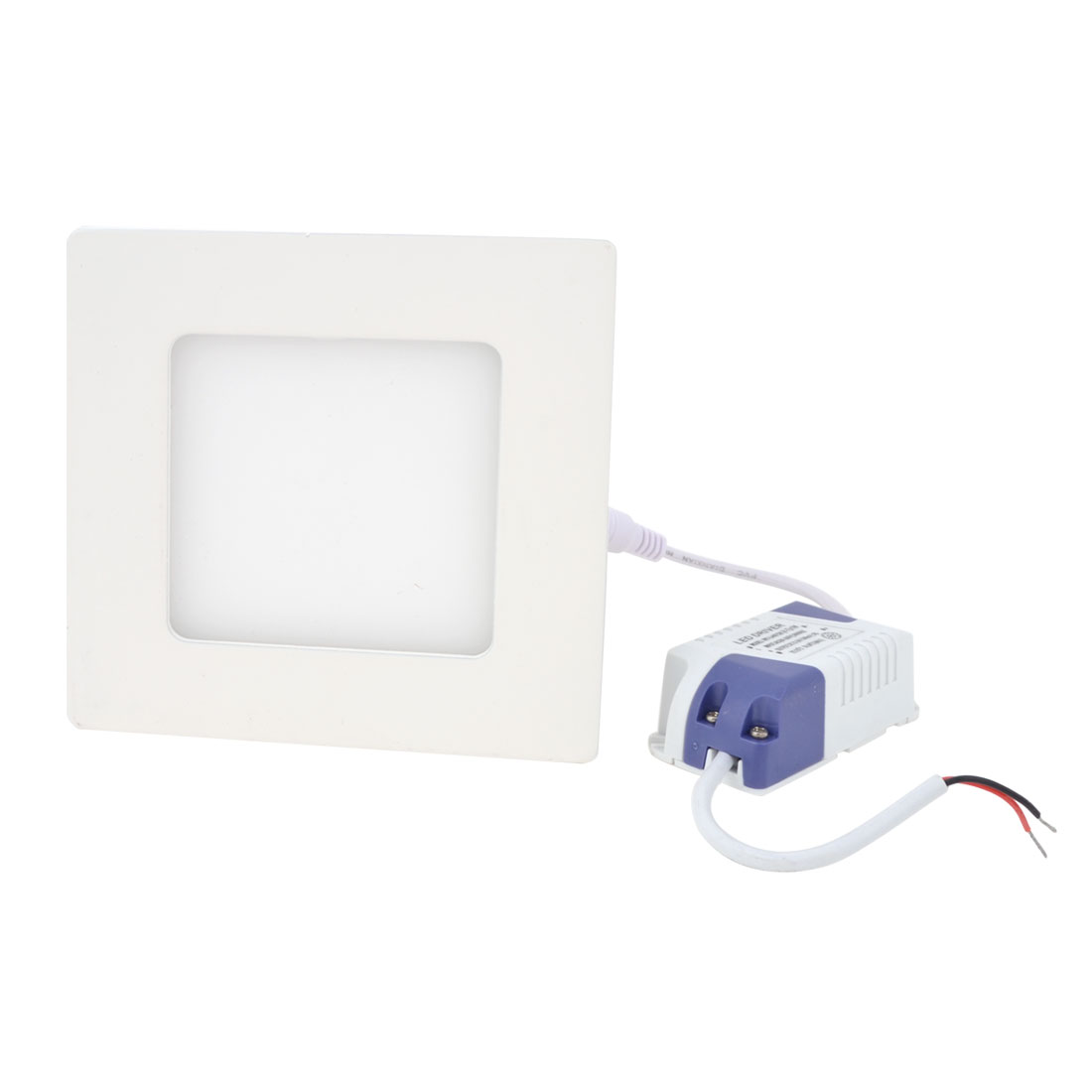 AC 85-265V 6W Warm White Recessed Square Ceiling 30 LED Panel Light Downlight