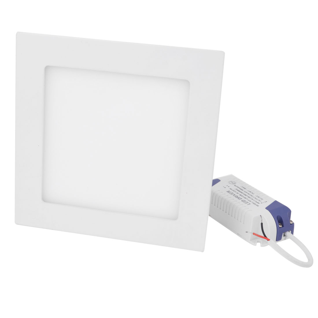 AC 85-265V 9W Pure White Recessed Square Ceiling 45 LED Panel Light Downlight