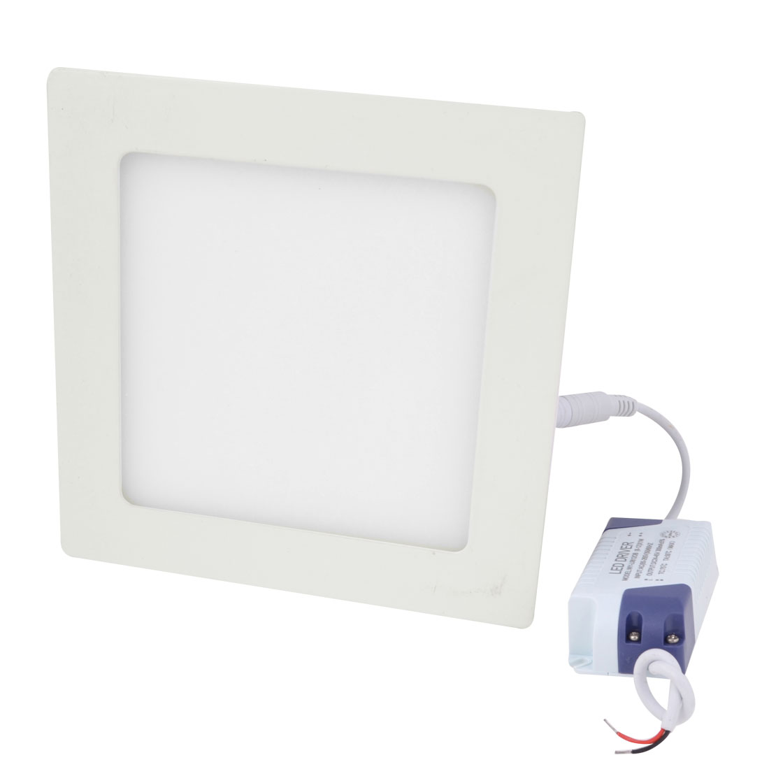 AC 85-265V 12W Warm White Recessed Square Ceiling 60 LED Panel Light Downlight