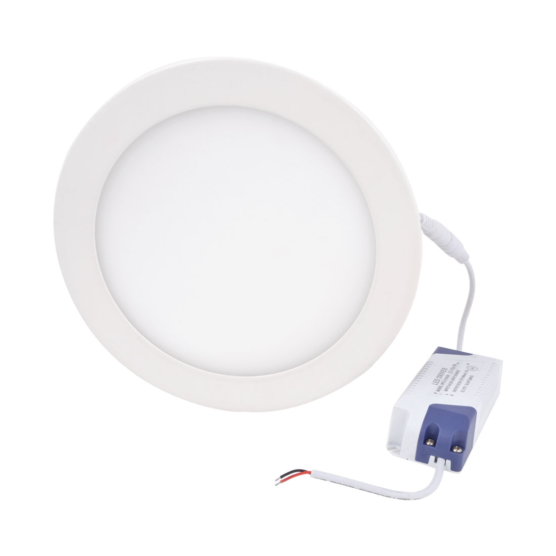 AC 85-265V 15W Warm White Recessed Round Ceiling 75 LED Panel Light Downlight