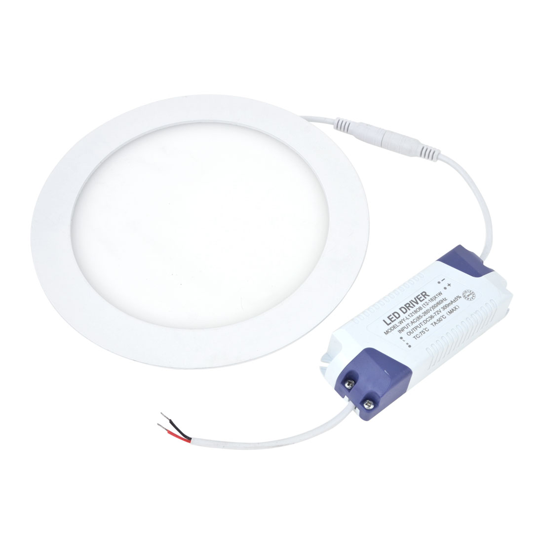 AC 85-265V 15W Pure White Recessed Round Ceiling 75 LED Panel Light Downlight