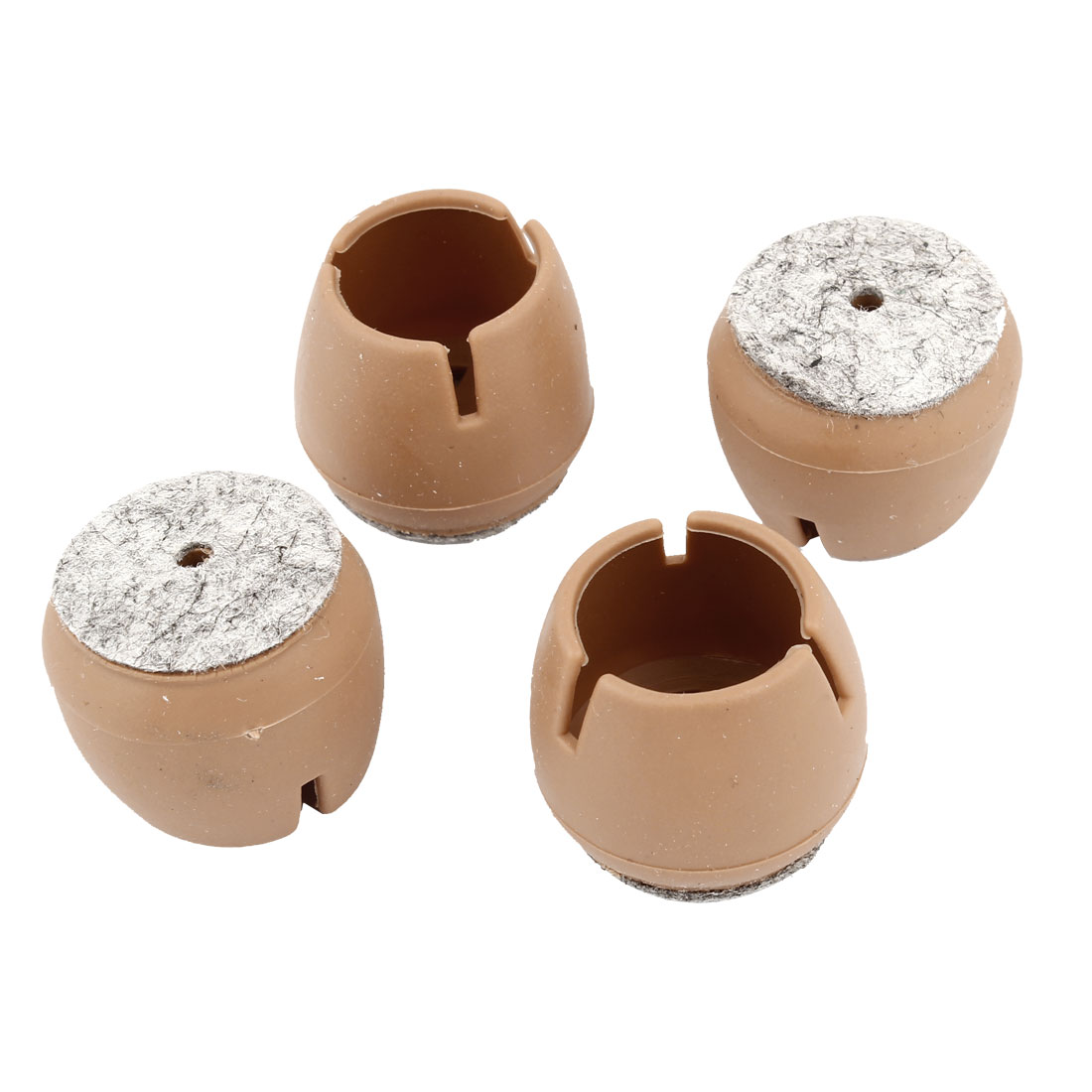 4 Pcs 30mm Dia Furniture Table Chair Leg Plastic Foot Covers Caps Protectors