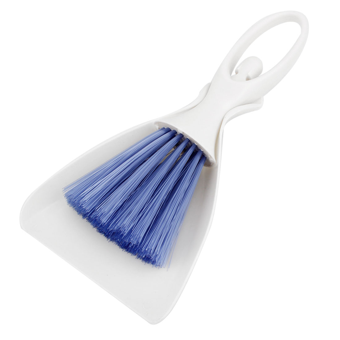Computer Keyboard Desktop Blue White Plastic Cleaning Brush Dustpan Set