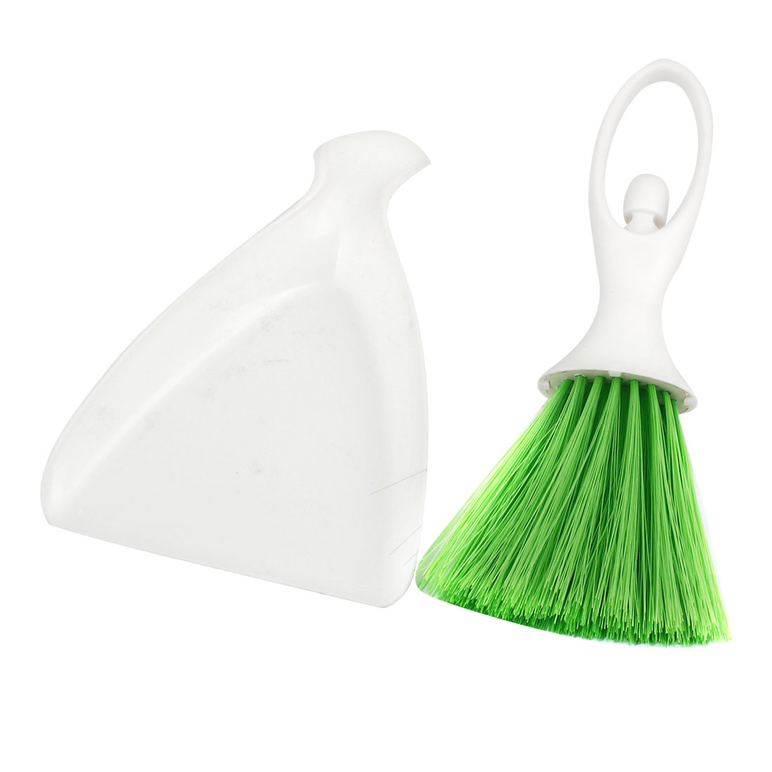 Green White Plastic Desktop Computer Brush Cleaner Dustpan Cleaning Tool Set