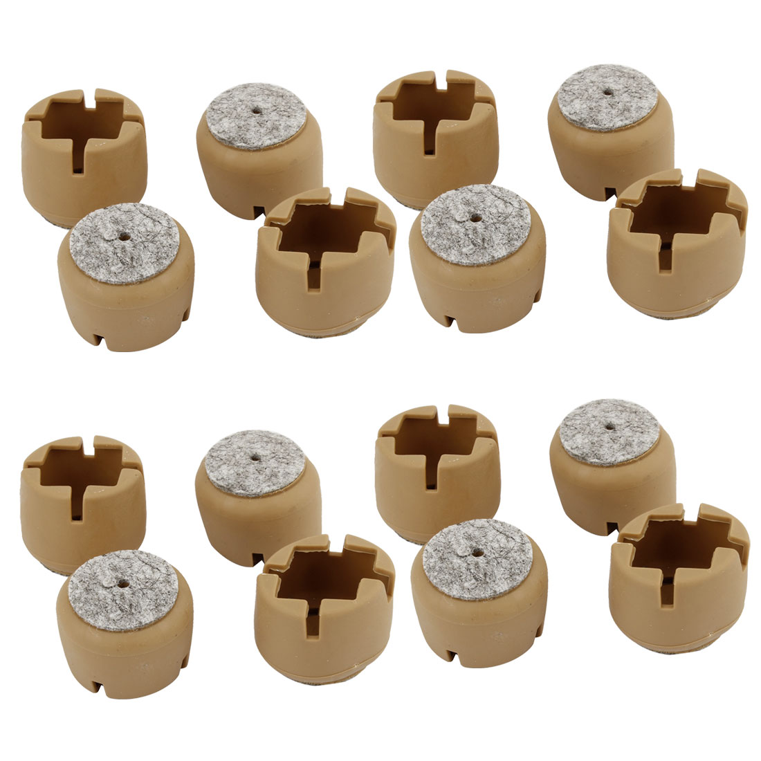 16 Pcs 33mm Dia Furniture Table Chair Leg Plastic Foot Covers Caps