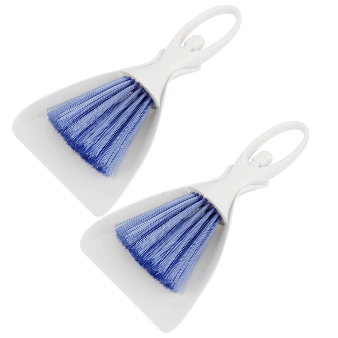 2 Sets PC Computer Keyboard Table Blue White Plastic Cleaning Brush Dustpan Kit