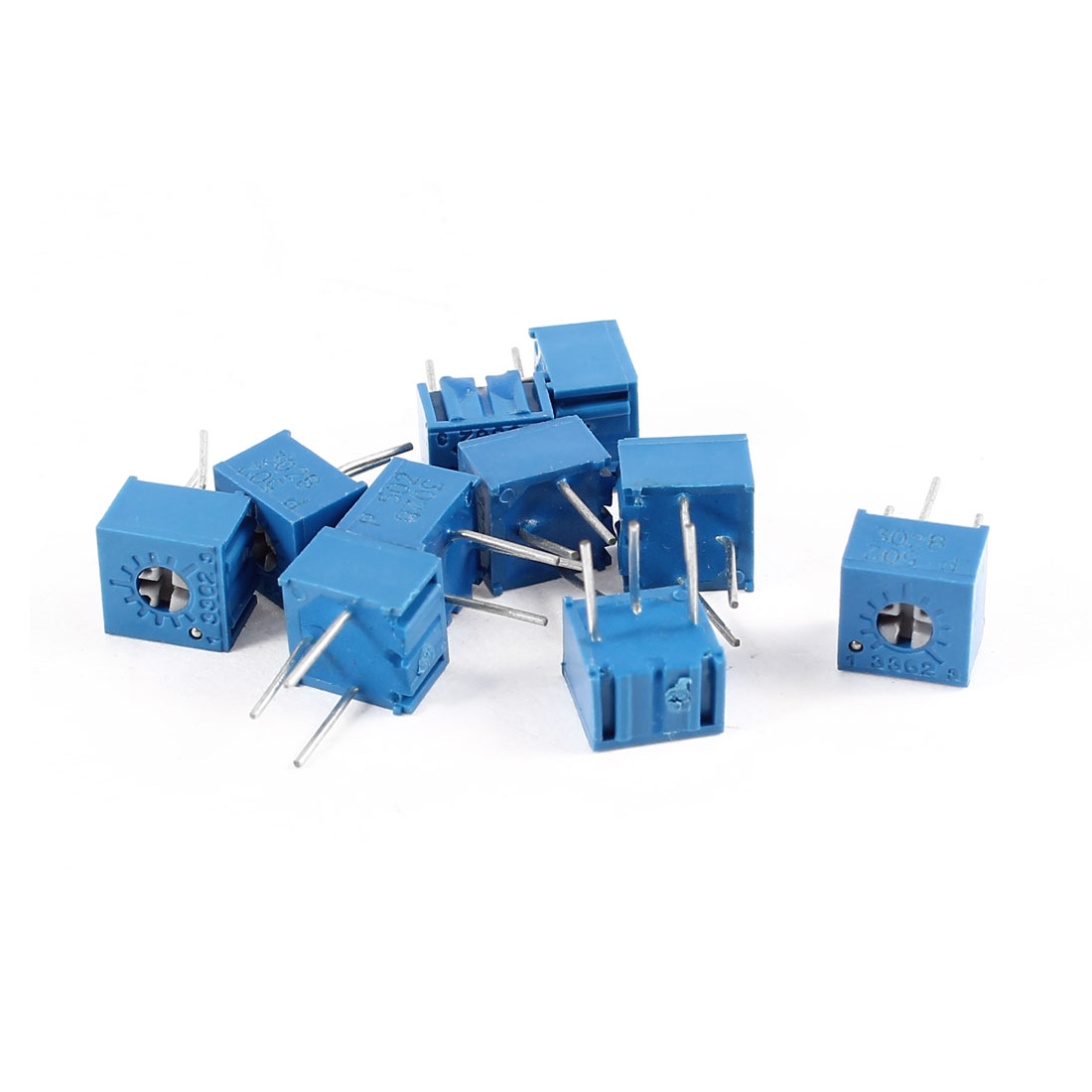 10Pcs 3362W-502 5K ohm 3 Pins High Precision Adjustable Resistor Trim Pot Potentiometer Trimmer