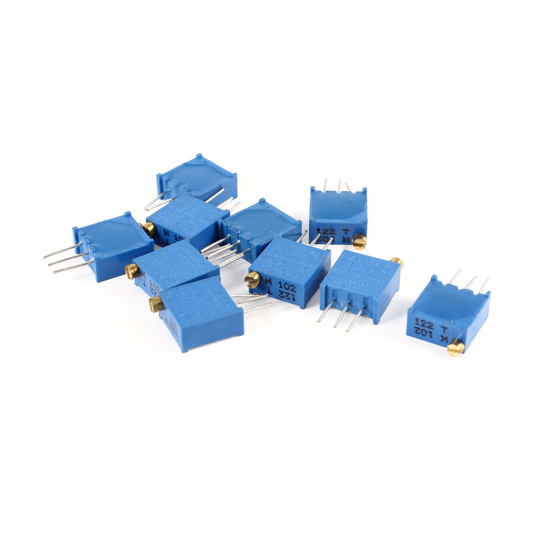 10Pcs 3296W-102 1K ohm 3 Pins High Precision Adjustable Resistor Trim Pot Potentiometer Trimmer