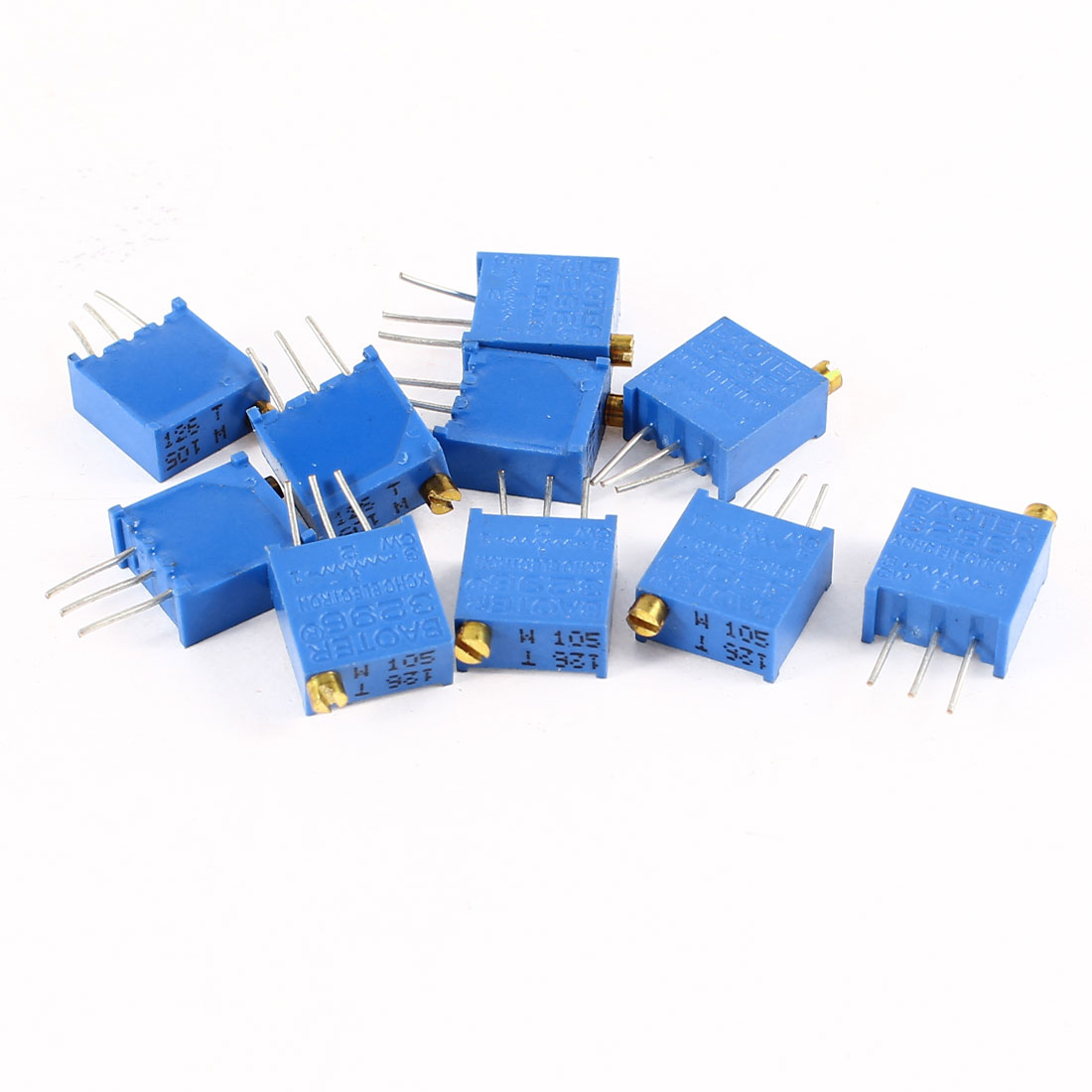 10Pcs 3296W-105 1M ohm 3 Pins High Precision Adjustable Resistor Trim Pot Potentiometer Trimmer