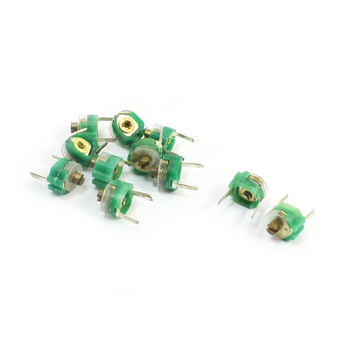 10 Pcs Green Electronic Components PCB Single Turn Variable Trimmer Capacitor 10PF