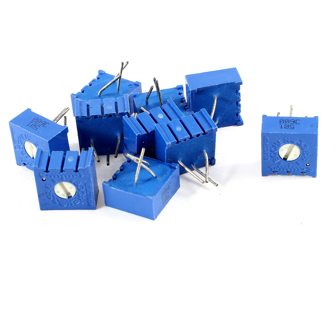 10Pcs 3386W-501 500 ohm 3 Pins High Precision Adjustable Square Resistor Trim Pot Potentiometer Trimmer
