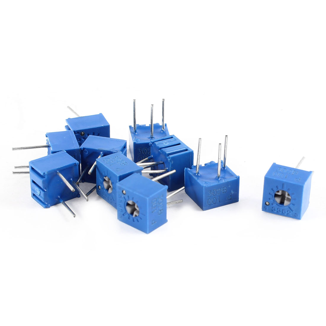10Pcs 3362W-100 10 ohm 3 Pins High Precision Adjustable Resistor Trim Pot Potentiometer Trimmer