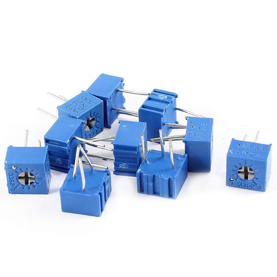 10Pcs 3362W-203 20K ohm 3 Pins High Precision Adjustable Resistor Trim Pot Potentiometer Trimmer