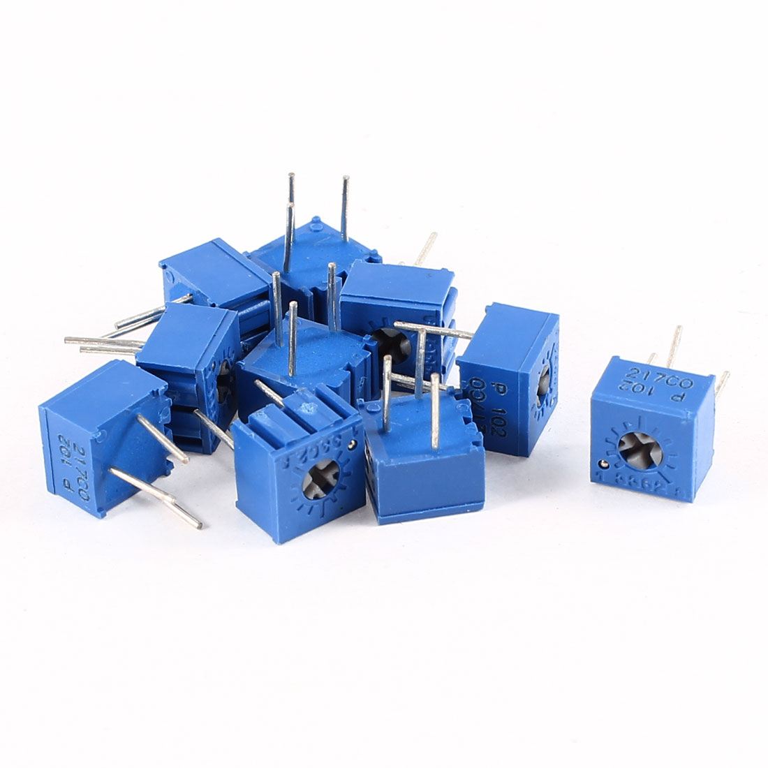 10Pcs 3362W-102 1K ohm 3 Pins High Precision Adjustable Resistor Trim Pot Potentiometer Trimmer