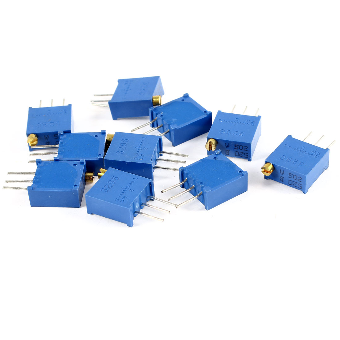 10Pcs 3296W-502 5K ohm 3 Pins High Precision Adjustable Resistor Trim Pot Potentiometer Trimmer