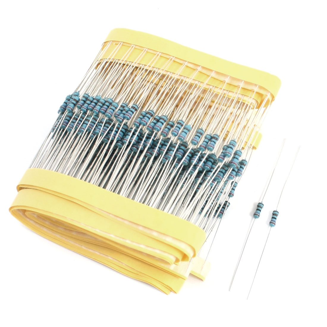 300PCS 0.25W 2.7K Ohm 1% Tolerance 6x2mm Axial Lead Metal Film Resistors