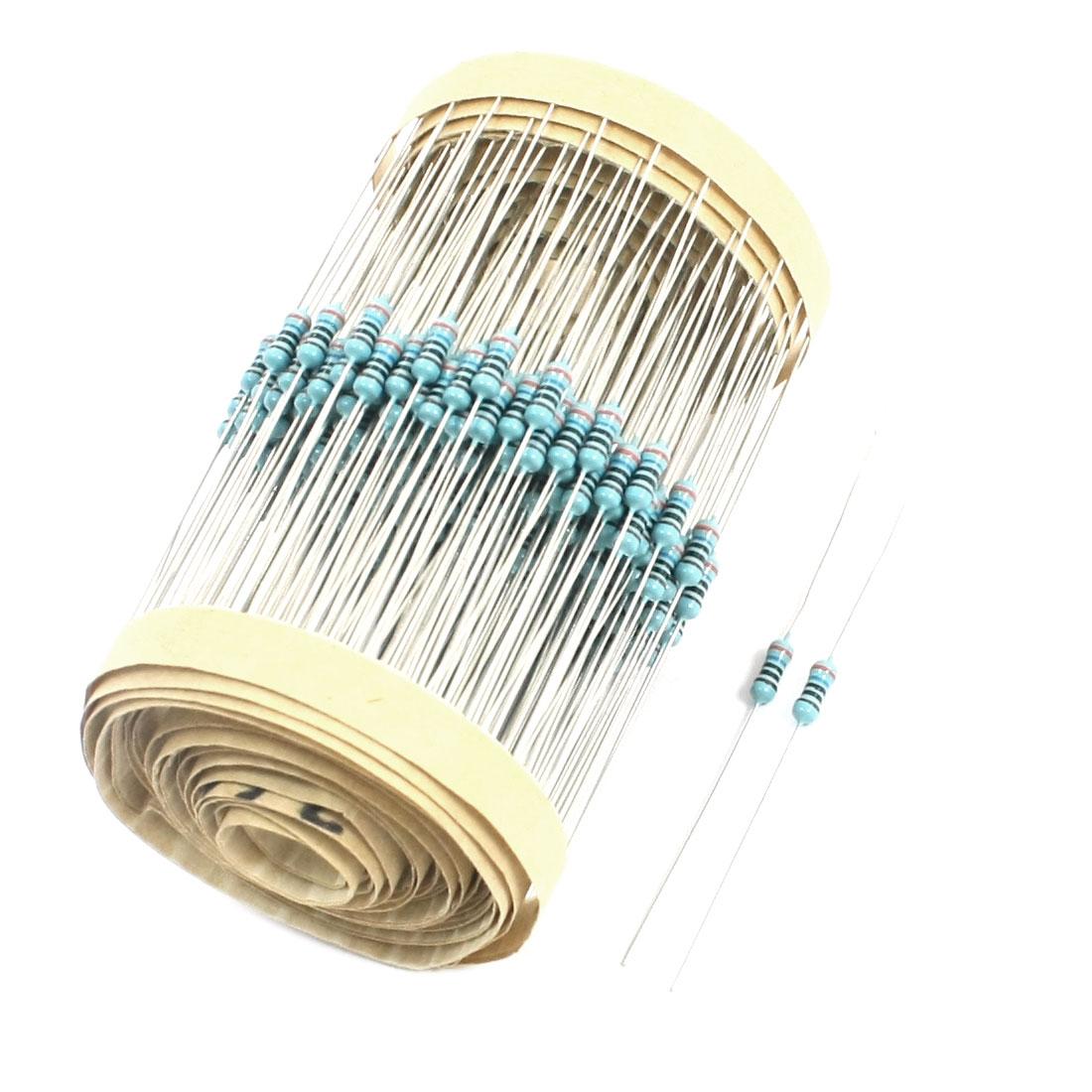 300PCS 0.25W 360 Ohm 1% Tolerance 6x2mm Axial Lead Metal Film Resistor