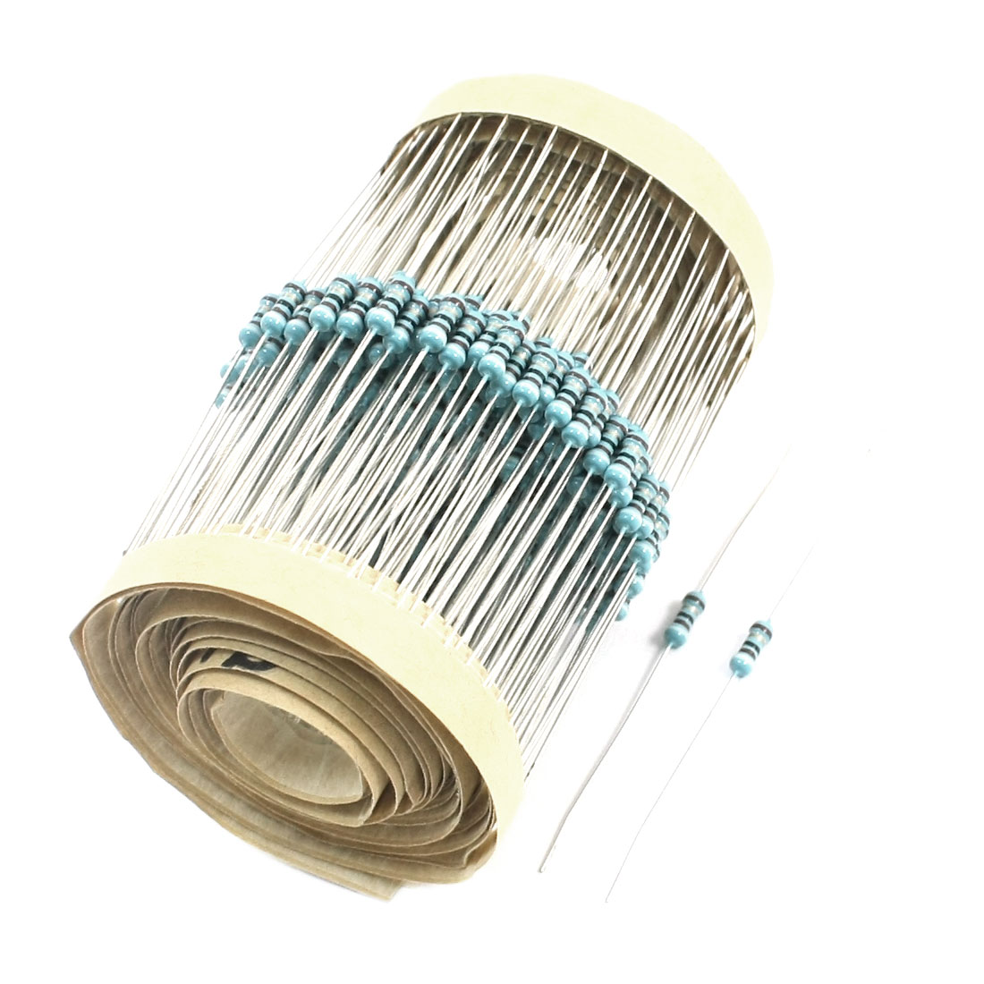 300Pcs Axial Lead Through Hole 0.25Watt 1% 91 Ohm Metal Film Resistor