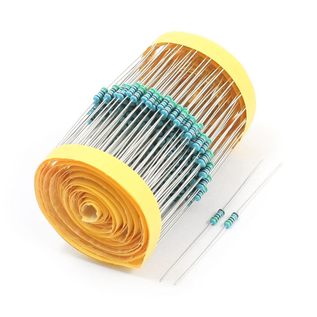 300PCS 0.25Watt 51 Ohm 1% Tolerance Axial Lead Metal Film Resistors