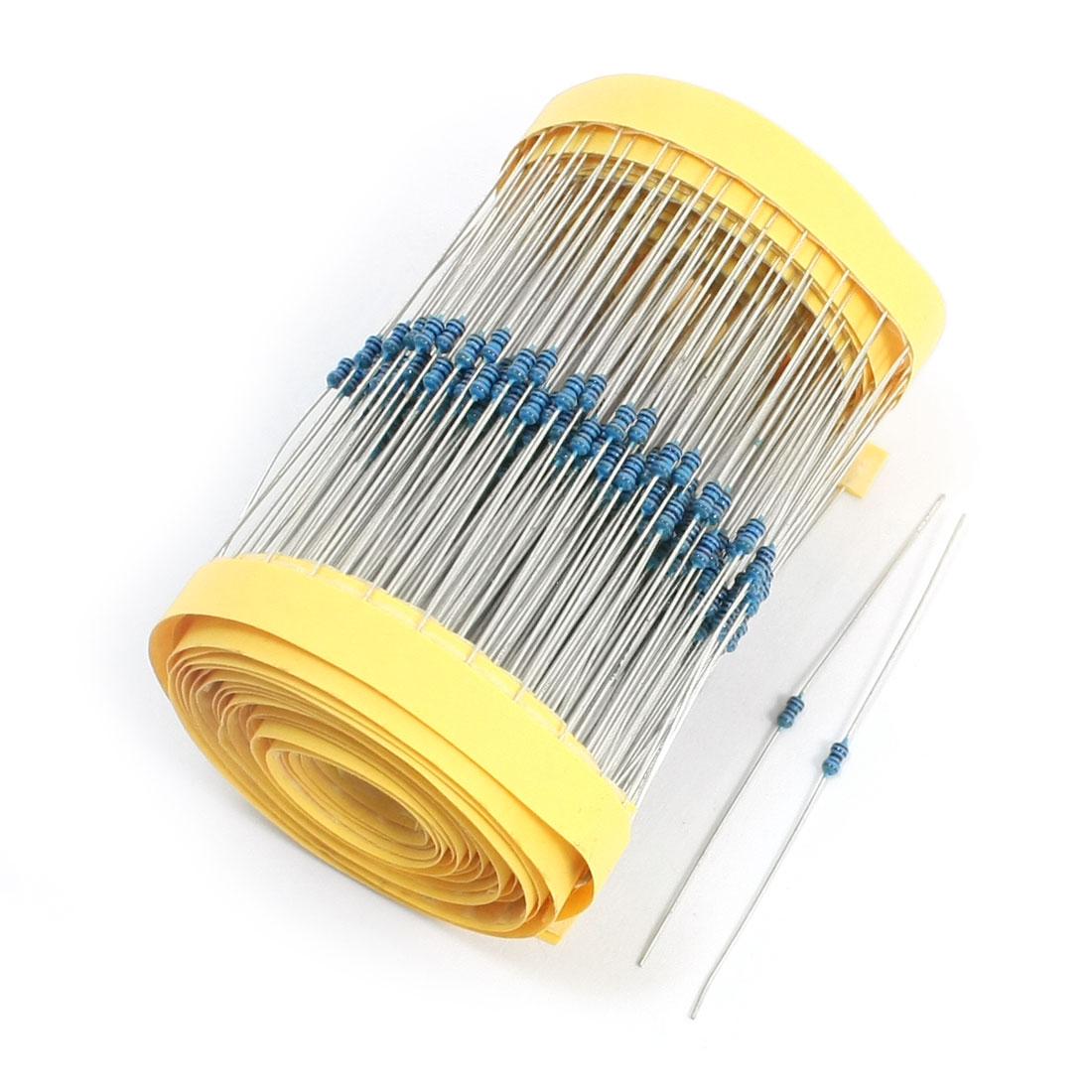 600Pieces 1/8W 8.2K Ohm Axial Lead Through Hole Metal Film Resistor 1%