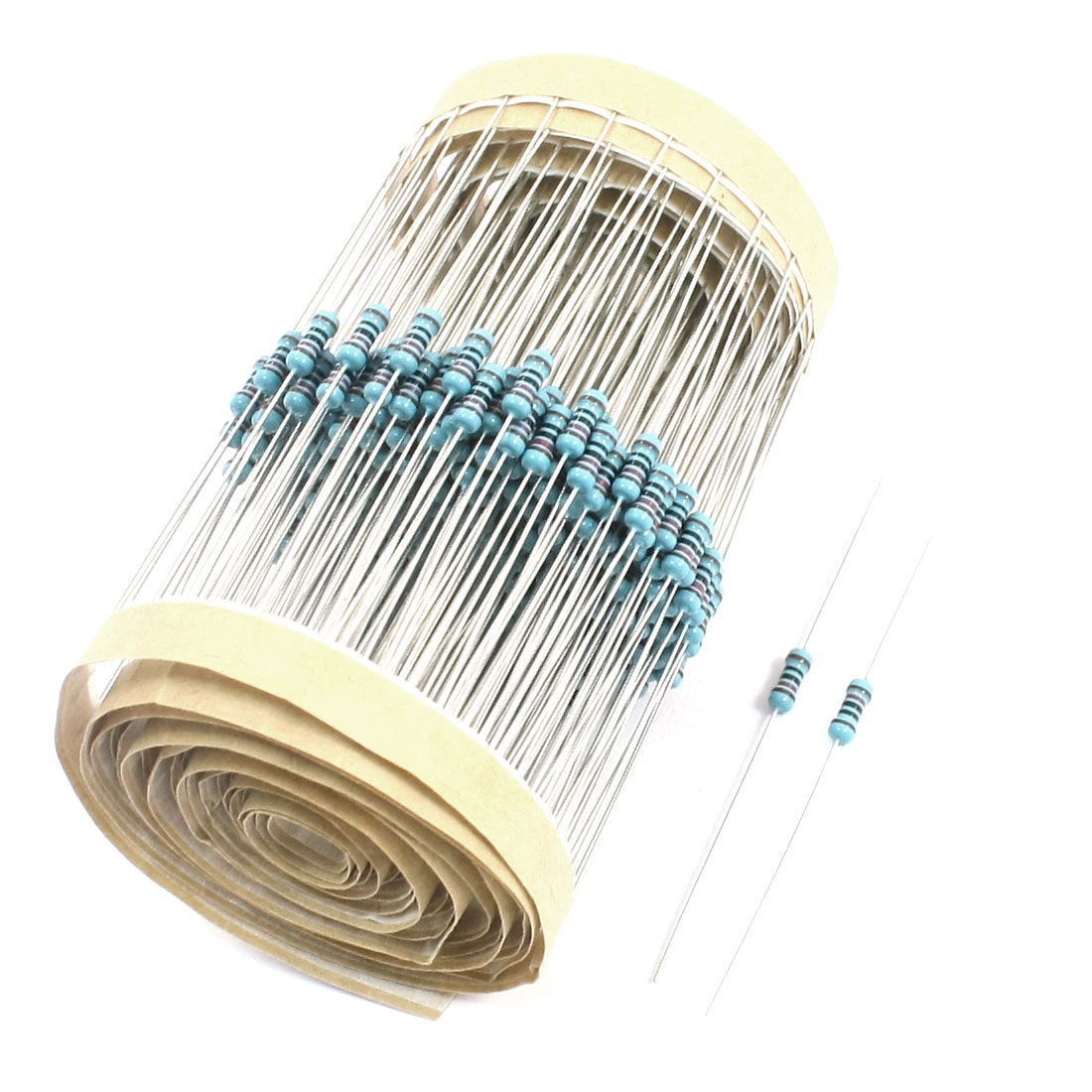 300pcs Colored Ring 1/8W 1% 120 Ohm Axial Lead Metal Film Resistors