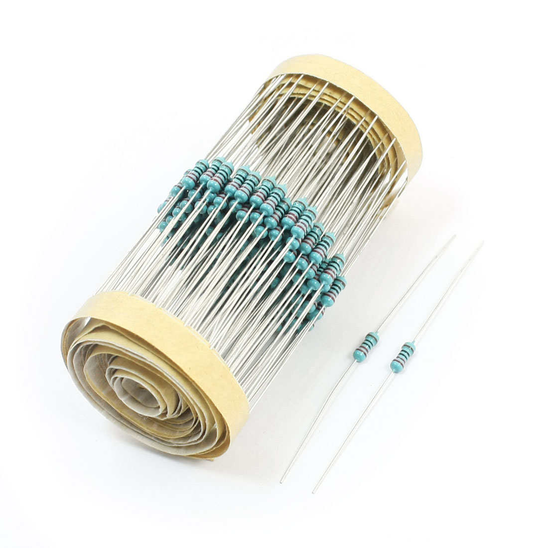 300pcs Colored Ring 1/8W 1% 220 Ohm Axial Lead Metal Film Resistors