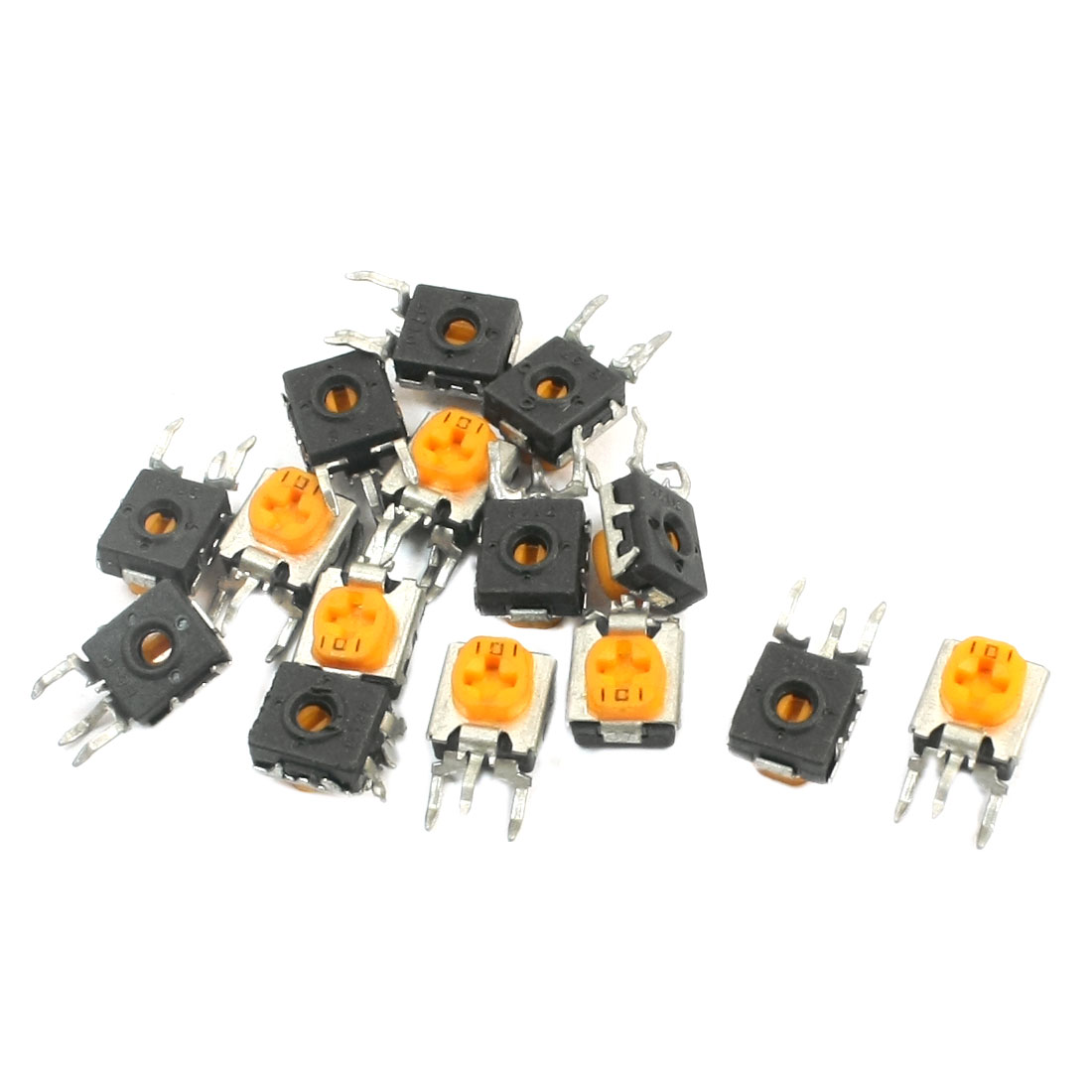 15Pcs Vertical Trimmer Variable Resistor PCB Potentiometers 100 Ohm
