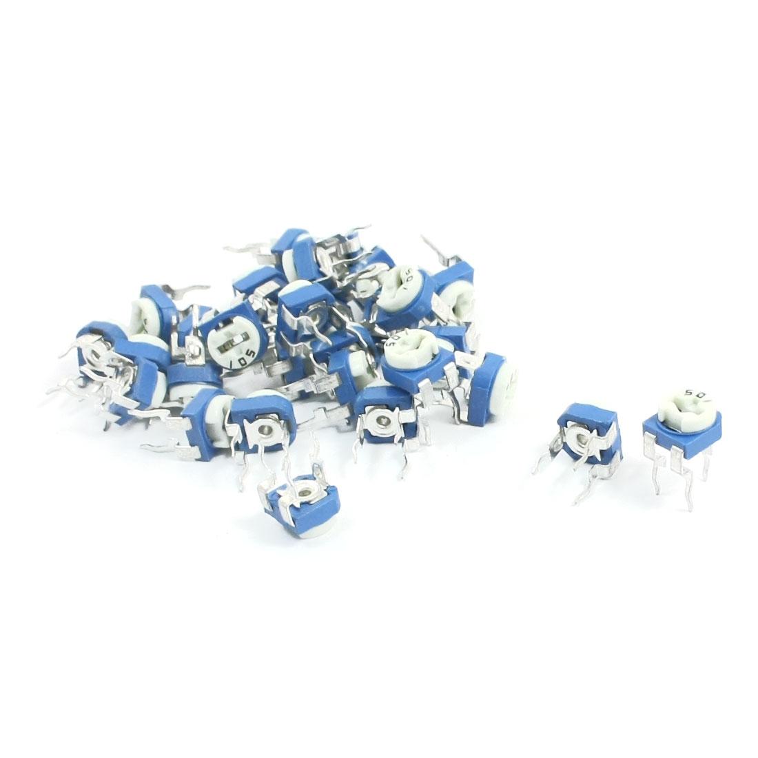 30x Trim Pot Variable Resistor Horizontal Trimmer Potentiometer 500 Ohm