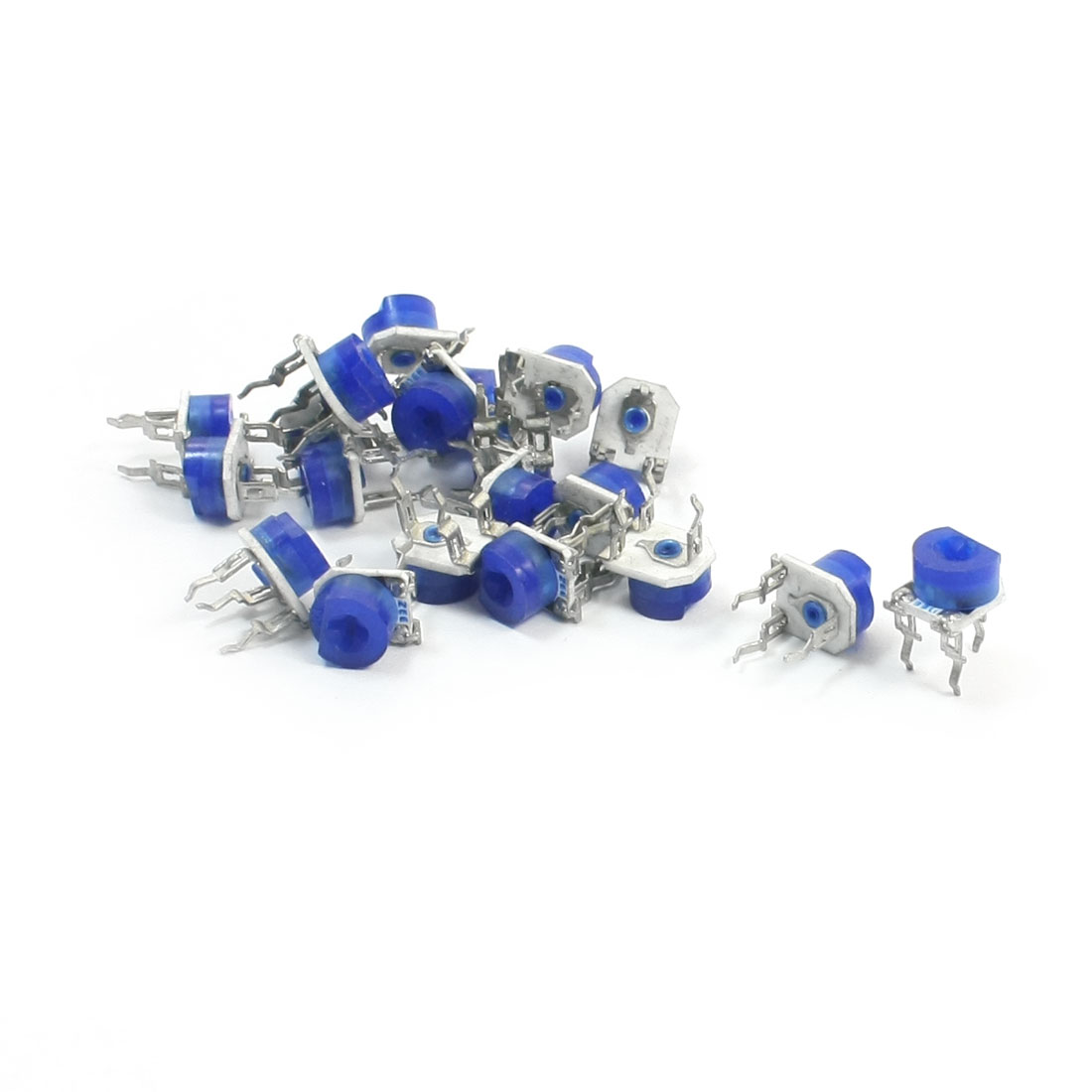 20Pcs Blue White PCB Mounting Horizontal Trimmer Resistor Potentiometer 3.3K Ohm