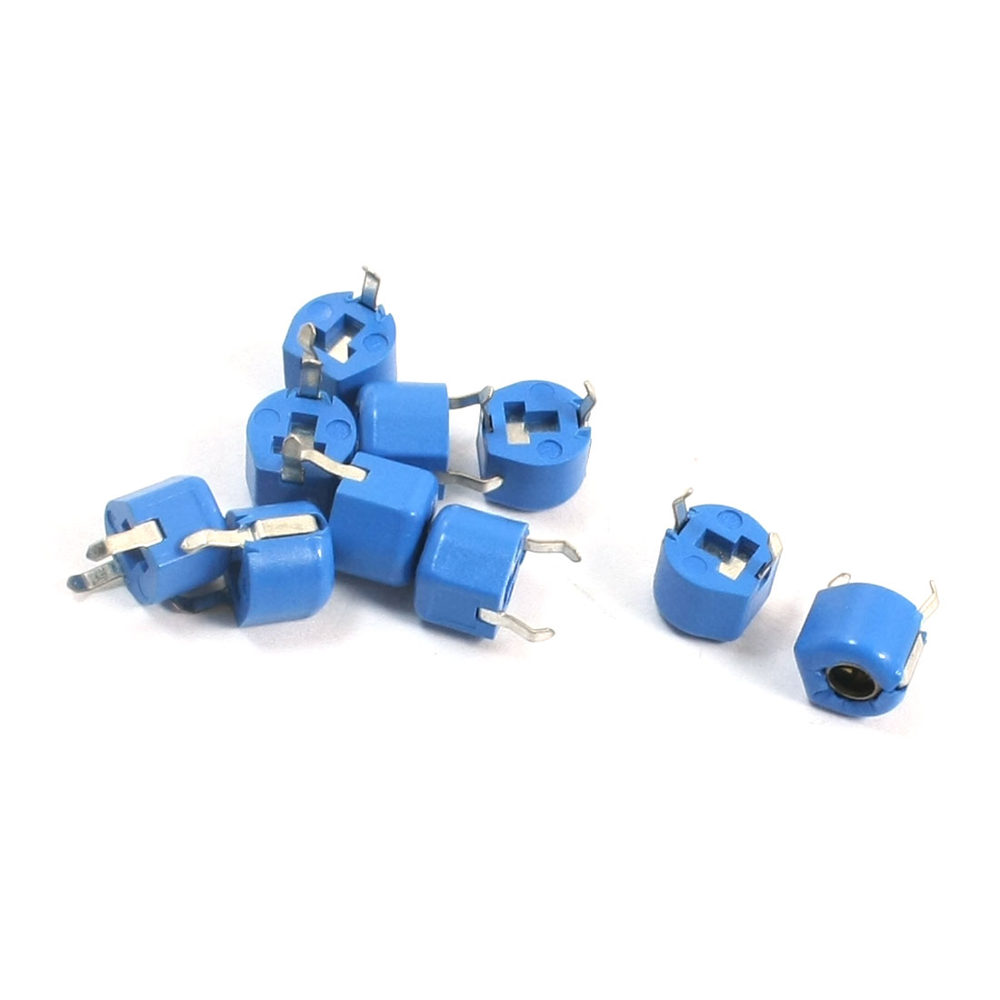 10Pcs Blue Housing 6mm Diameter 5pF Top Adjustable Trimmer Capacitors