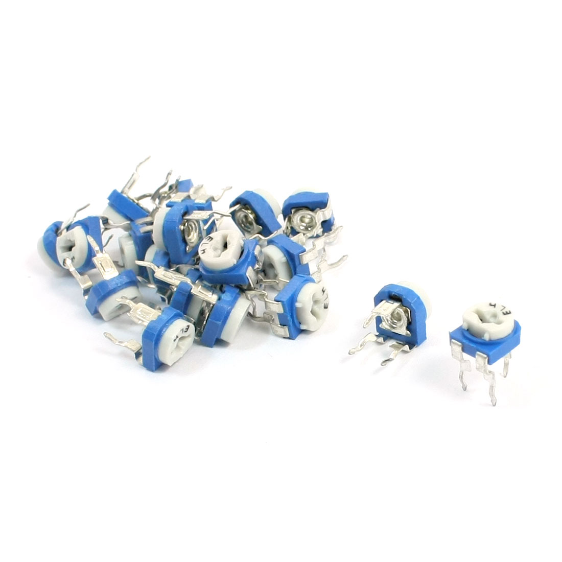 20pcs PCB Mount 47K Ohm Horizontal Pot Variable Potentiometer Trimmer Resistors