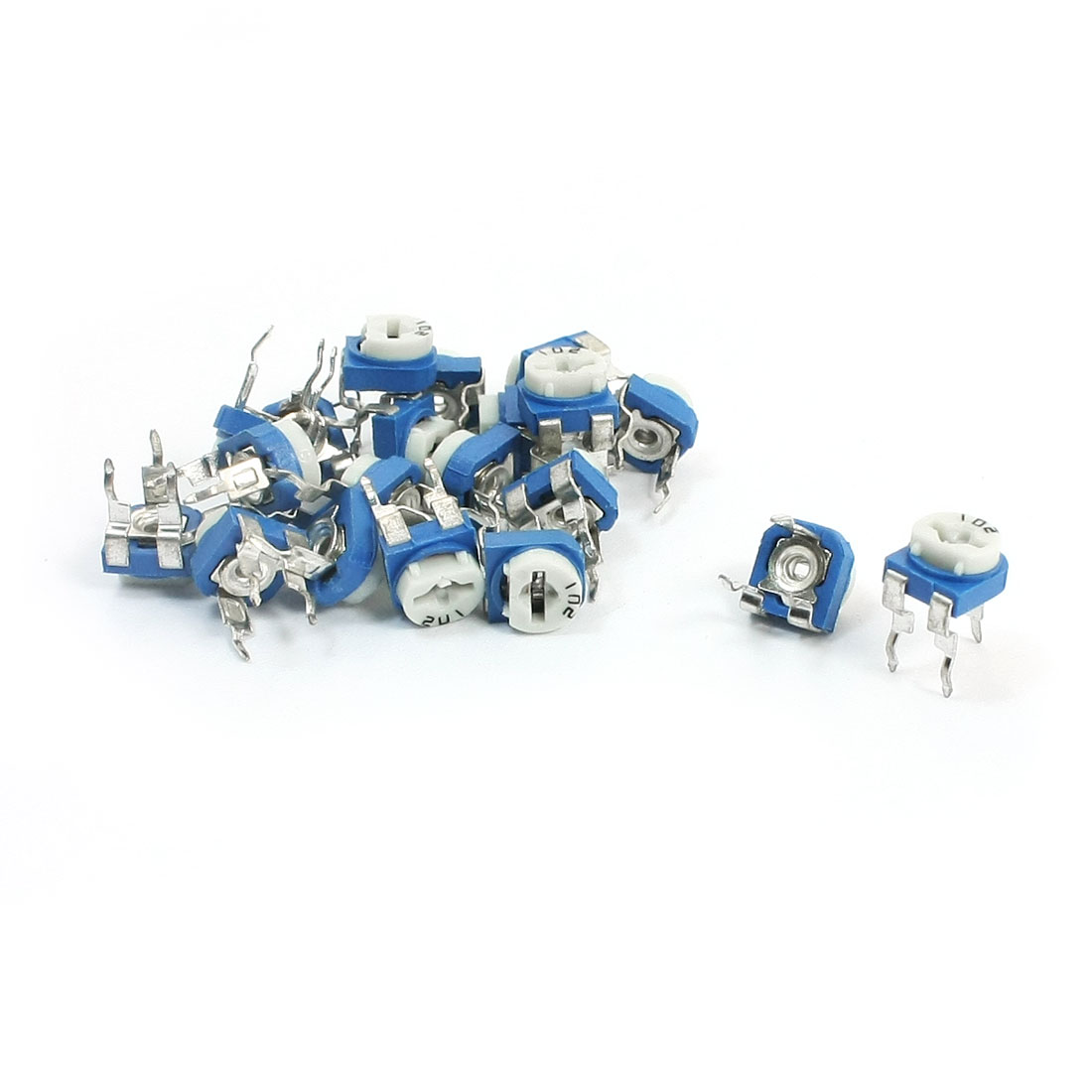 20Pcs Trim Pot Variable Resistor Horizontal Trimmer Potentiometer 1K Ohm