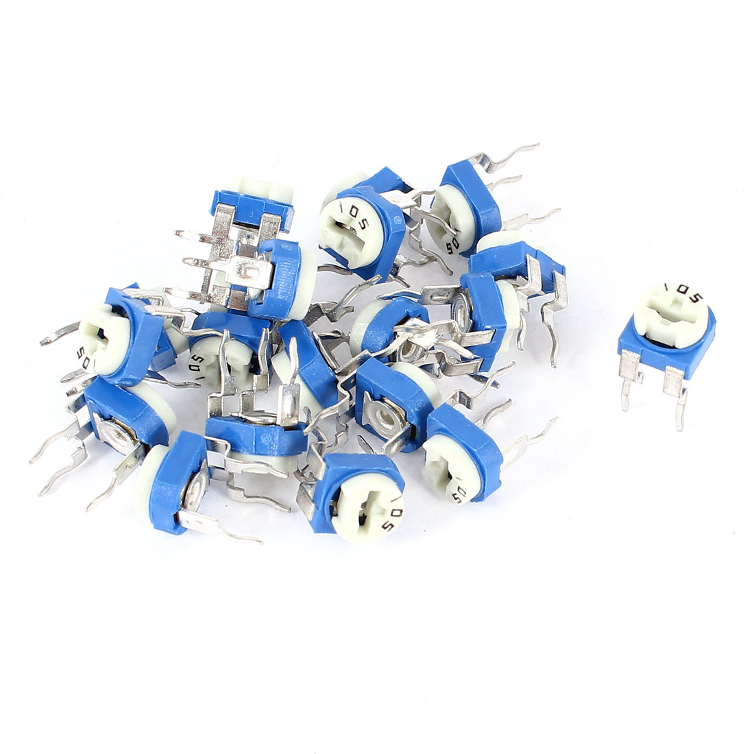 20pcs 1M Ohm PCB Mount Variable Resistor Horizontal Trimmer Potentiometers