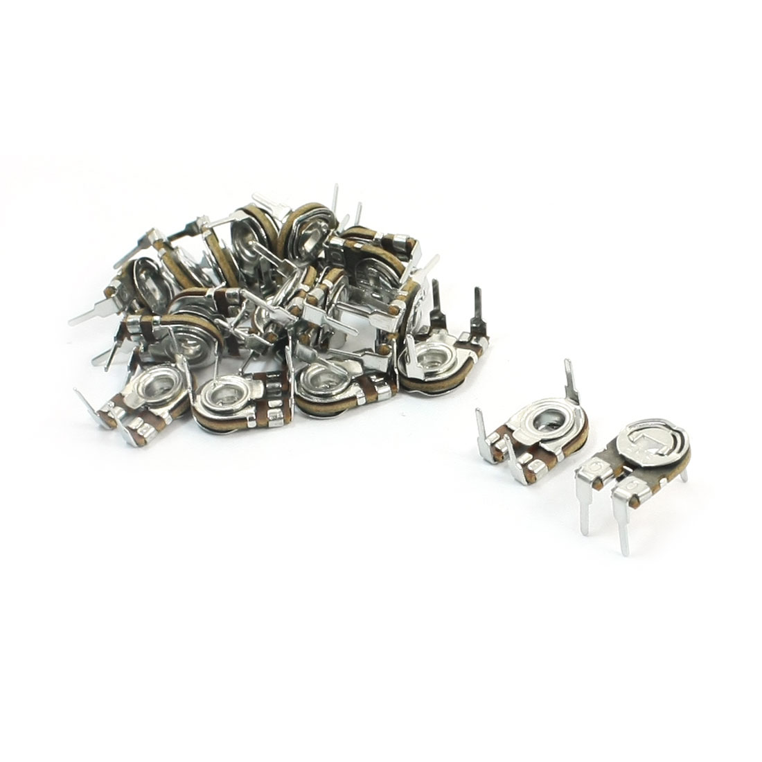 20Pcs Horizontal 3Pole Terminals 6.8K Ohm Variable Resistor Trimmer Potentiometer