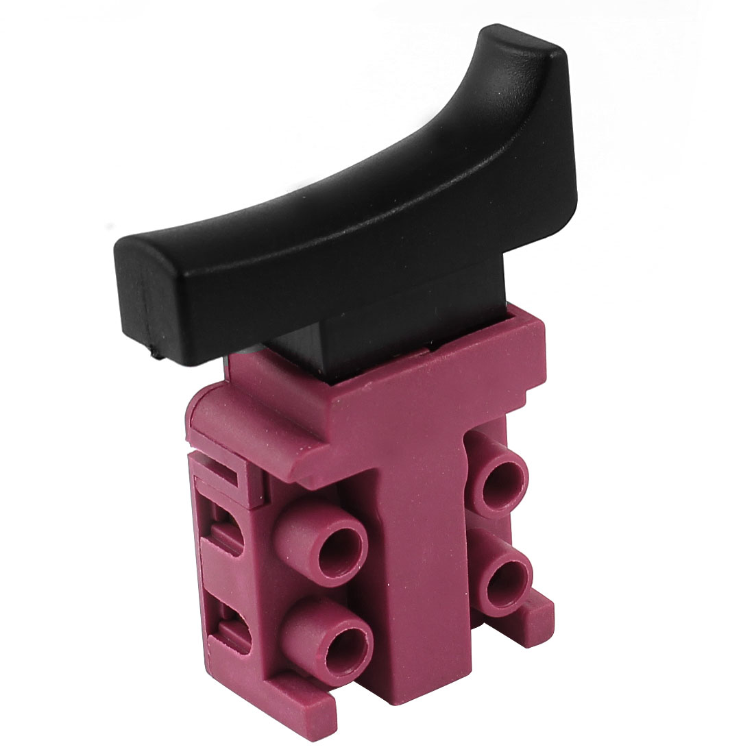 AC 250V 6A DPST NO Momentary Electric Power Tool Trigger Switch Black Fuchsia