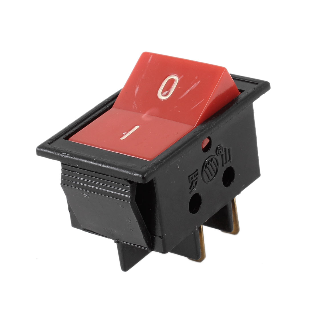 6A/250V 10A/125V AC 2 Position 4 Pin Red Button ON/OFF DPST Boat Rocker Switch