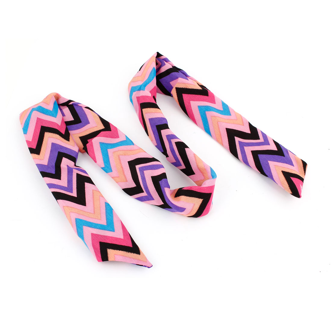 Zigzag Pattern Adjustable Bendy Wired Hair Head Band Wrap Headband