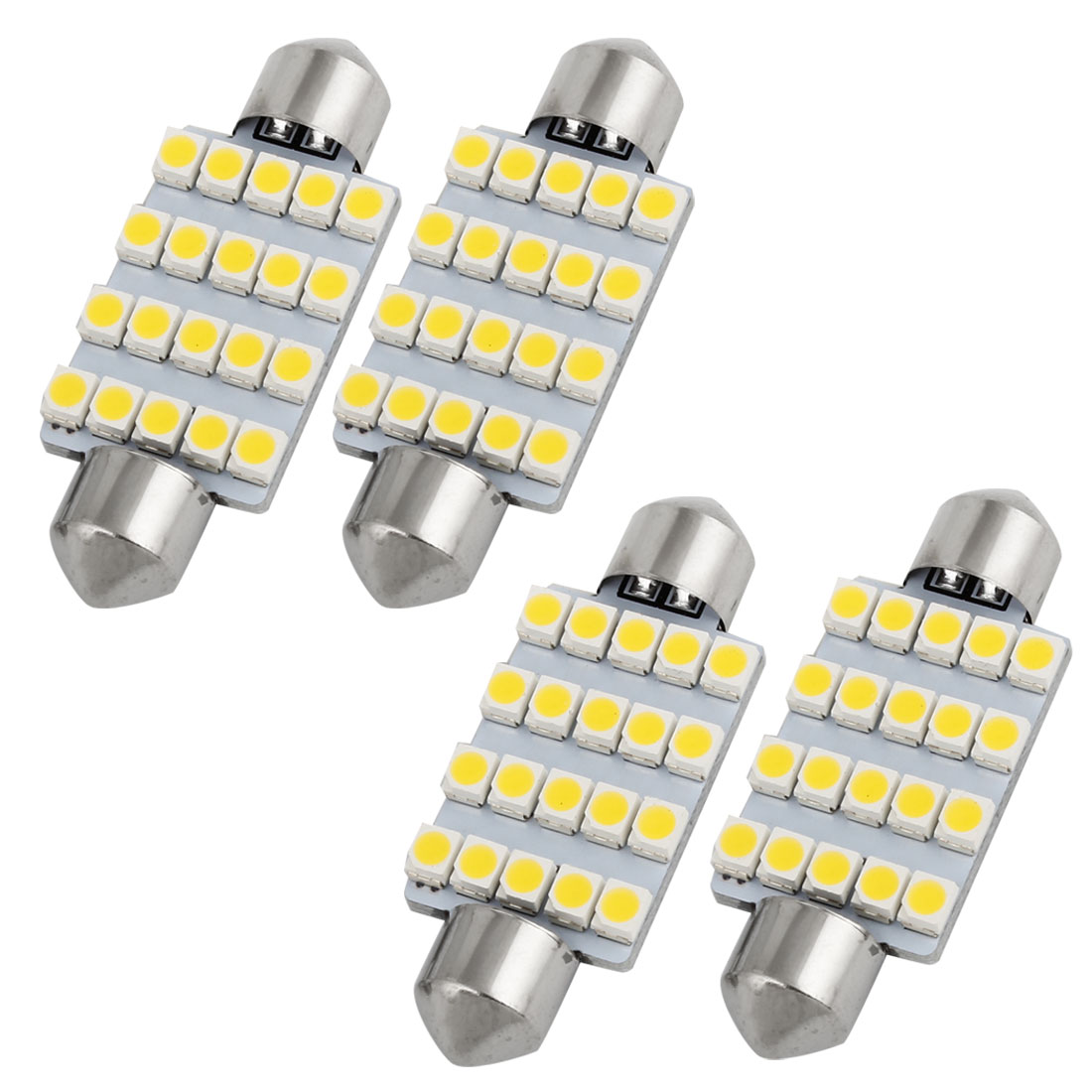 4pcs 41mm 20 SMD 1210 LED Warm White Festoon Dome Light Lamp 212 211-2 Internal