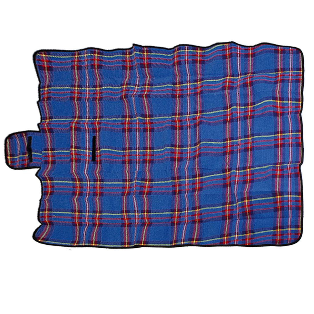 130cm x 150cm Basket Beach Garden Camping Picnic Mat Pad Blanket Blue