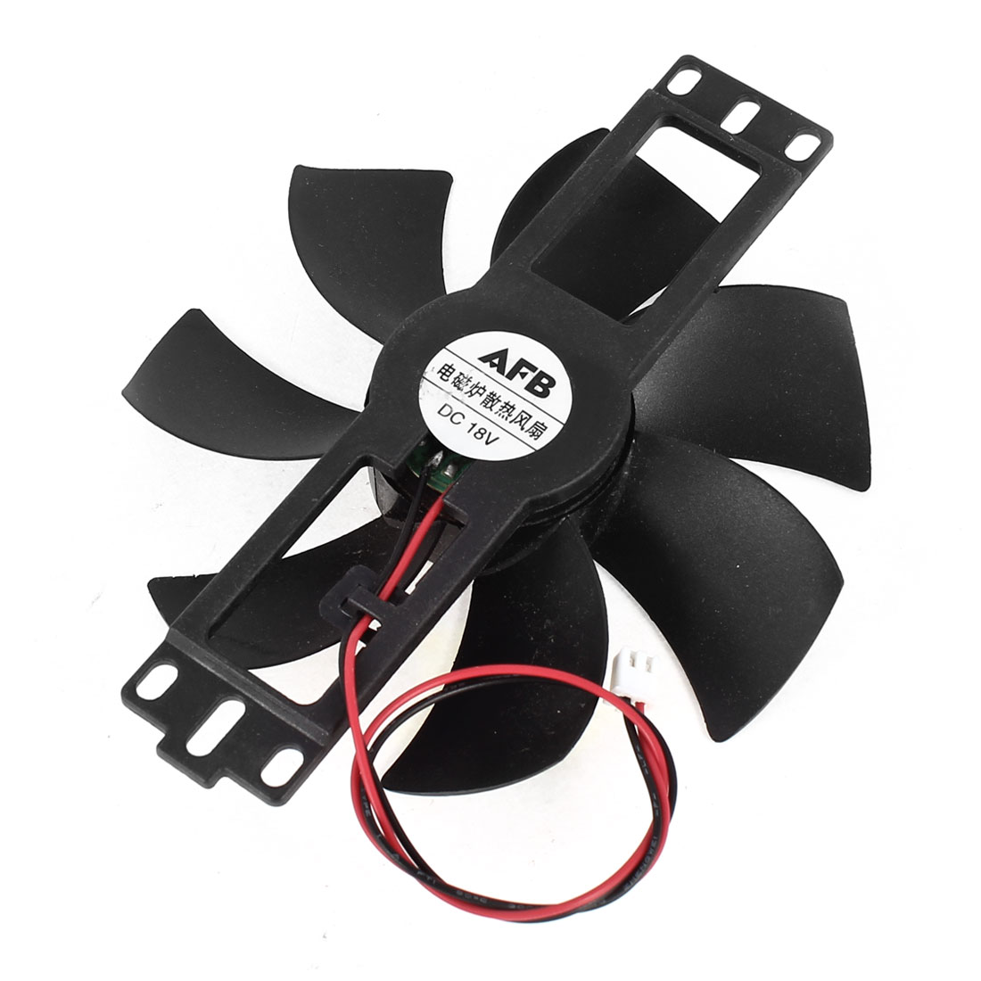 DC 18V Black 2 Terminals Connector Cooler Cooling Fan 110mm x 15mm