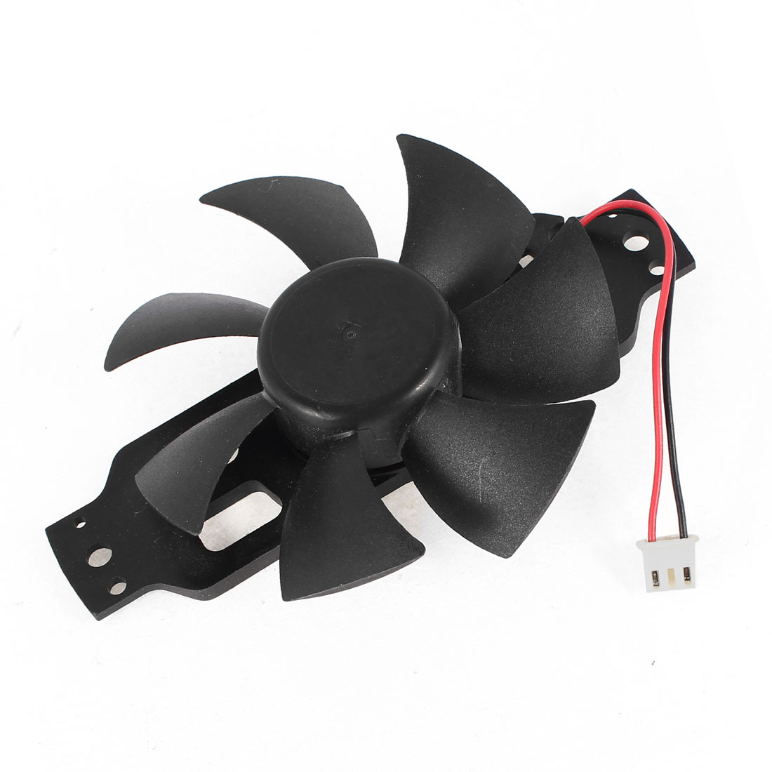 DC 18V 0.20A 85mmx15mm 2 Wires PC Computer Case Cooling Fan Black