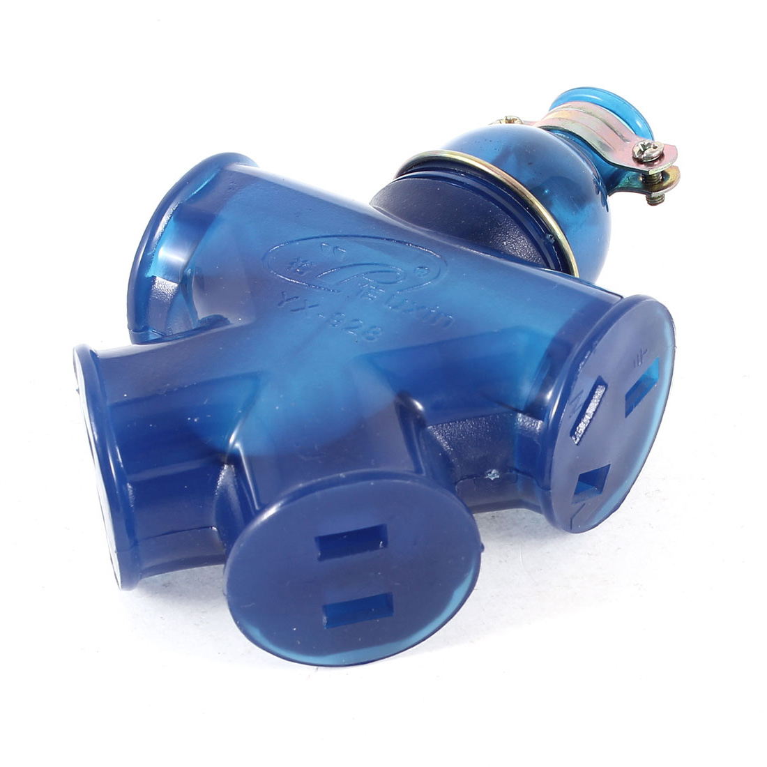 AU US 4 Outlet Power Socket Converter Blue AC 250V 15A