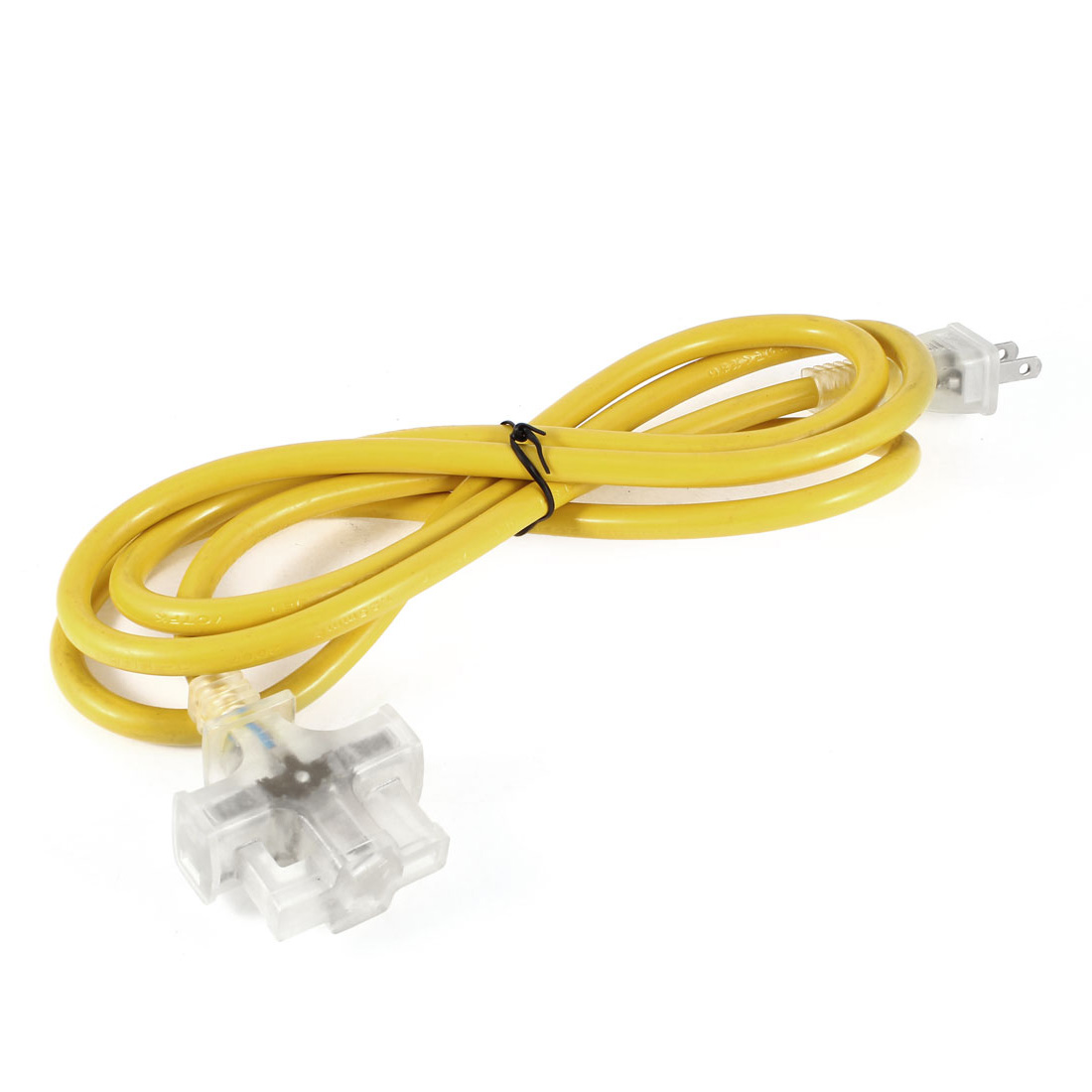 Yellow 6.6Ft Cable AU US Socket 3 Outlet Power Splitter AC 125V 15A US Plug