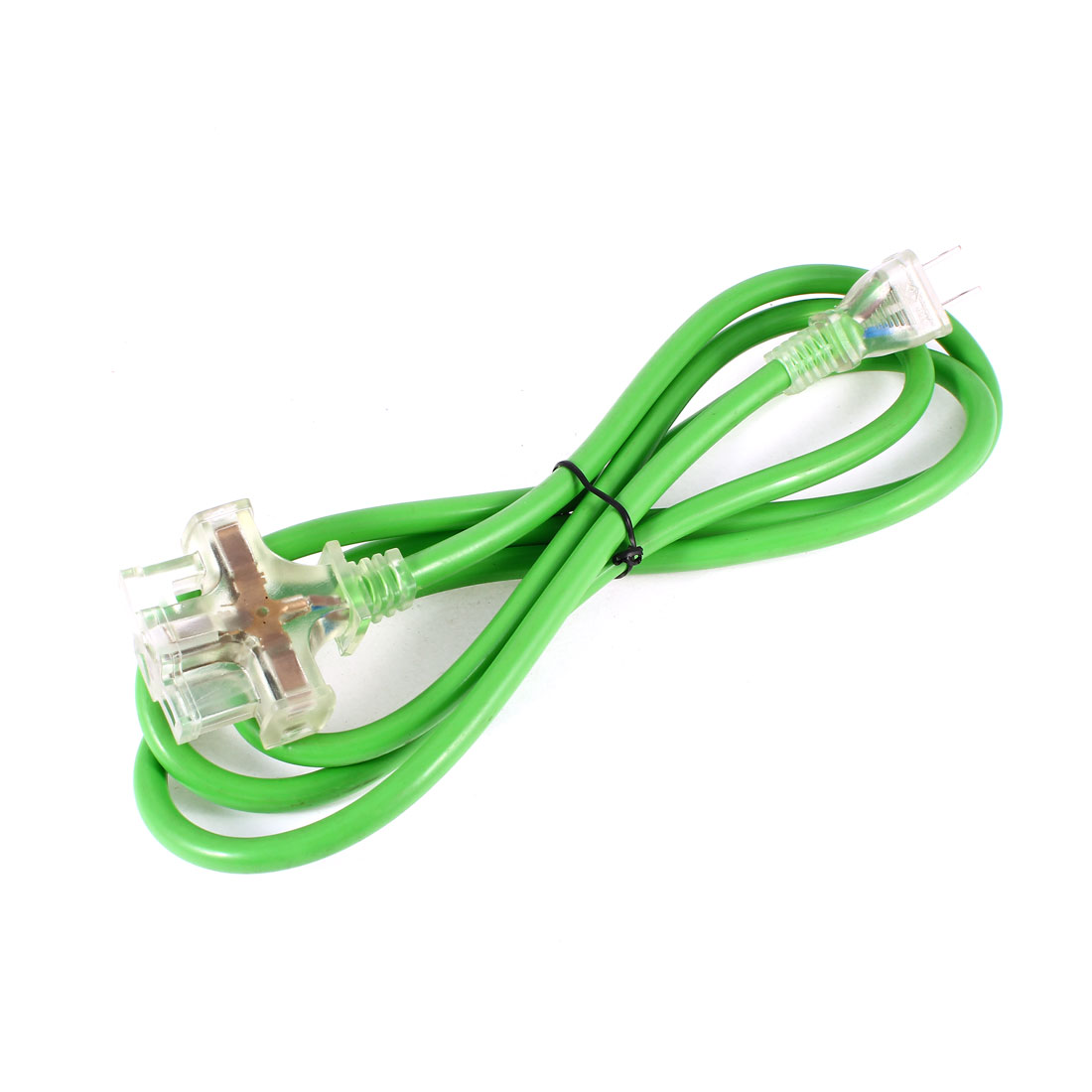 Green 6.6Ft Cord AU US Socket 3 Outlet Power Adapter AC 125V 15A US Plug